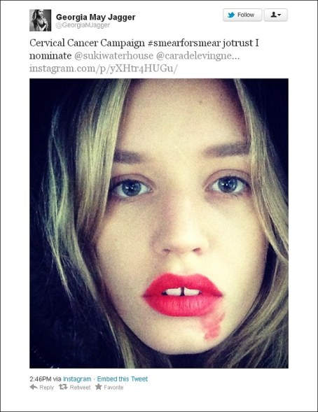 smearforsmear-hero-lipstick-cancer-campagne-campaign-instagram-star-georgia-may-jagger