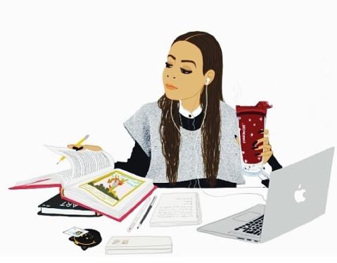 sanaa-k-blog-illustration-dessin-work-travail-mac-starbucks-books