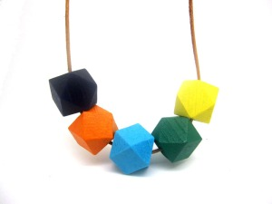 Geometric-Wood-Bead-Cluster-Necklace-Modern-Tribal-color-block-Chic-bead-necklace-NW1519